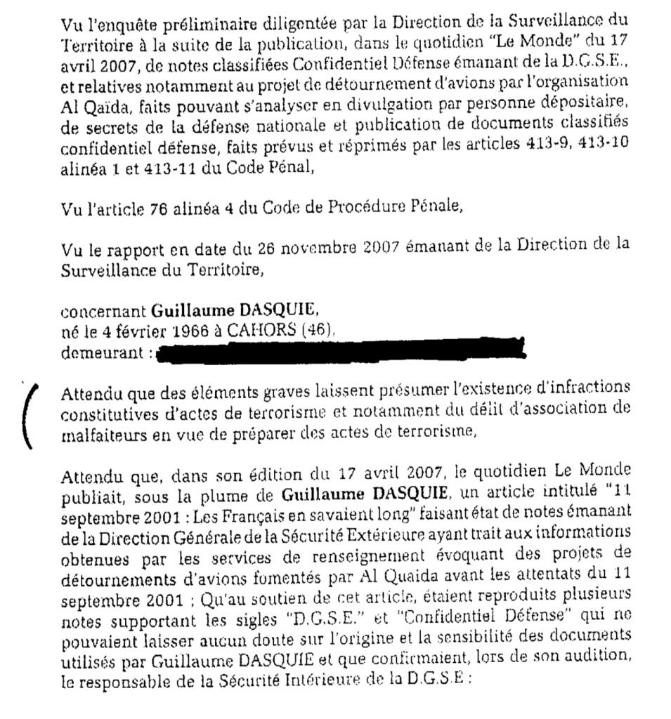 Affaire Dasquié, le juge Trévidic épingle les méthodes des services de sécurité